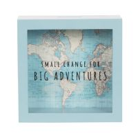 Sass & Belle - Vintage map money box